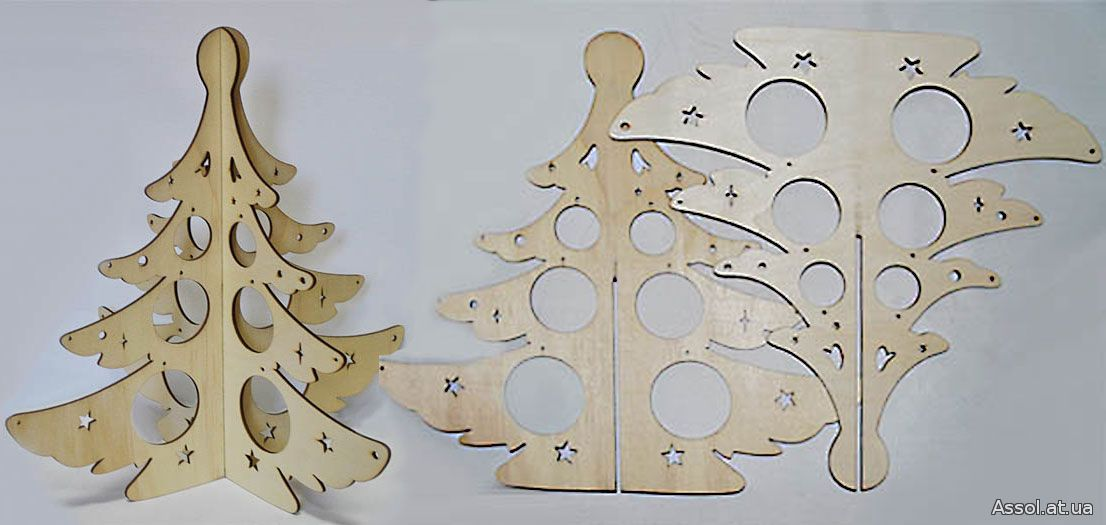 Новогодние елки своими руками из фанеры