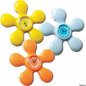 Промо часы настенный в виде цветка