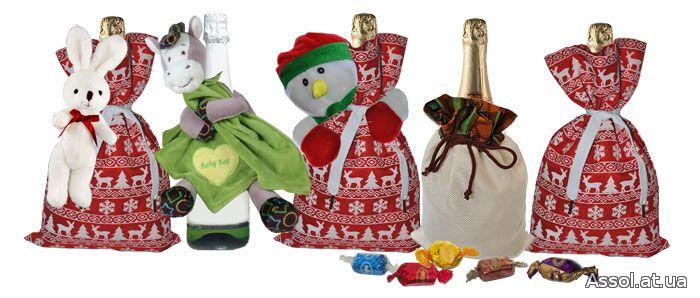 чехол для шампанского, символ года, обезьянка, сумочка, упаковка подарков